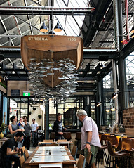 2017 Sydney: Tramsheds #8 (dominotic) Tags: 2017 tramsheds 1904rozelletramdepot innerwestsydney architecture history dining shopping industrialmakeover iphone8 people fish restaurant fishcothesustainableseafoodcafe sydney australia