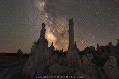 Chimney Stacks (Mike Ver Sprill - Milky Way Mike) Tags: chimney stacks silhouette mono lake south tufa landscape nightscape nature night sky milky way glaxy mike ver sprill michael versprill photography composite amazing stars star universe astrophotography astronomy long exposure stack tracker ioptron california lee vining