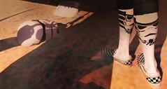 Twin Suns (Jinx Jinx) Tags: jinx jinxjinx starwars stormtrooper socks desert tatooine nerd shadow sl secondlife