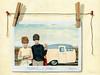 Vintage Campers (L. Apple Originals) Tags: polaroid vintagecamper women humor realism realisticpainting figurativepainting clothespins