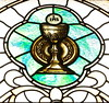 St. Mary of the Angels Chalice and Paten SG (Jay Costello) Tags: stmaryoftheangelsromancatholicbasilica stmaryoftheangels romancatholic basilica church god religion worship olean newyork ny oleanny chalice host paten green gold