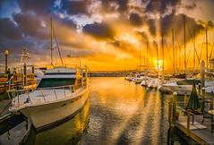 Evening Sunset At The Pier (Stuart Schaefer Photography) Tags: sunburst cloudscape sunset pensacola pier sonya7rii outdoor evening palafoxpieryachtharbor clouds sun dock sonyalpha travel bay water outdoors sky boat goldensky seascape florida dusk