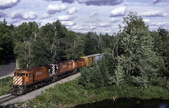 Detouring Century's (ac1756) Tags: cp canadianpacific cpr cprail wisconsincentral wc wcl alco mlw c424 4225 471481 detour pembine wisconsin