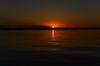 Sunset in Thessaloniki, Greece (gavin.mccrory) Tags: sunset greece thessaloniki europe mediterranean sea water reflection sun dusk red orange yellow dark warm fall autumn travel traveling landscape sky ocean beach