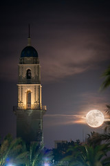 "December ""Supermoon"" (ihikesandiego) Tags: san diego supermoon moonrise usd university church immaculata"
