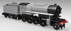 Lego USATC S160 (TheBricksmith) Tags: lego steam train engine moc usatc s160 loco freight wwii ww2 world war 2 american british allies