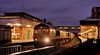 66-585-6M86-Shrewsbury-4-12-2017 (D1021) Tags: shed class66 66585 freightliner 6m86 steel shrewsbury shrewsburystation night nightshot nikond700 d700