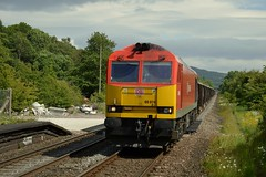 60074 enters Bamford with the 6Z69 Heck to Dowlow working, 18th June 2015. (Dave Wragg) Tags: 60074 class60 tug dbschenker 6z69 bamford hopevalleyline derbyshire loco locomotive railway