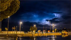 Storm lightning (jyleroy) Tags: argelèssurmer canon eos700d languedocroussillon méditerranée pyrénéesorientales mer nationalgeographicgroup ngc orages port poselongue rebel stormlightning t5i éclairs