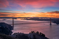 Golden State of Mind (Aron Cooperman) Tags: aroncooperman california escaype goldengatebridge hawkhill landscape northerncalifornia nov2017 openlightphoto sanfrancisco sunrise nikon d850 nikond850 nikon2470 ggbridge sf sfbay sfskyline ca cal californiacoast californiacoastline calm seascape marinheadlands