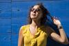 Vi. (LucaBertolotti) Tags: portrait vi ritratto colors beauty girl woman world people sunglasses eyes smile camargue arles provencealpescôtedazur france bleu blue fille femme