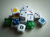 Your Turn (13skies) Tags: die dice chance roll gamble pips colours colors boards boardgames letters numbers symbols sony sonyalpha100