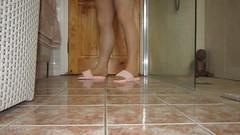 m11 34 (Slipper Queen) Tags: open toe fluffy furry slippers tights pantyhose sexy legs cd tv tg tgirl tgurl trannie crossdress