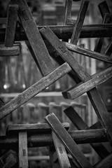 Rustic Stools (Robert Borden) Tags: stools craft wall texture pattern close bnw bw monochrome blackandwhite canon canonchina canonphotos shanghai china asia
