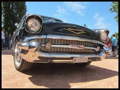 Chevrolet BelAir, 1957 (v8dub) Tags: chevrolet bel air 1957 chevy schweiz suisse switzerland neuchâtel american gm pkw voiture car wagen worldcars auto automobile automotive old oldtimer oldcar klassik classic collector v8
