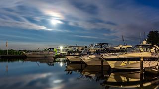 Moonlight in the marina