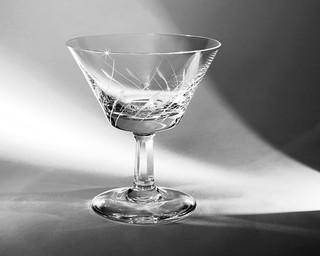 glas mit licht