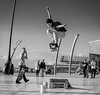 Street Skating (peterwilson71) Tags: skateboard street tricks fast high blackpool midair skys clouds clever canon7d