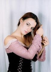 Tenderness (Paolo Dallavalle) Tags: modella model ragazza girl ritratto portrait corsetto corset capellilunghi longhair leica leicam2 elmar 50mm fotografiaapellicola filmphotography