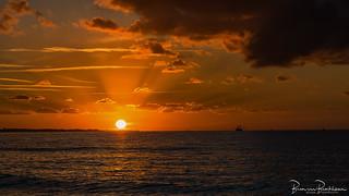North Sea Fishing at Sunset
