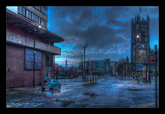 Manchester Cathedral (Kev Walker ¦ 7 Million Views..Thank You) Tags: architecture building buses canon1855mm citycentre england hdr lancashire manchester manchestercathedral northwest outdoor panorama panoramic photoborder postprocessing victoriastation