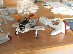 EA-1F Skyraider WIP (Mad physicist) Tags: lego wip workinprogress usnavy douglas spad skyraider a1 aircraft