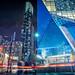 Stand Tall (Paul Flynn (Toronto)) Tags: toronto towers condo aura ryerson university school long exposure city downtown lights night yonge street traffic