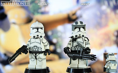 Custom LEGO Star Wars Battlefront II: Assault & Heavy Clone Troopers (LegoMatic9) Tags: custom lego star wars battlefront ii clone troopers assault heavy minifigures