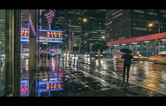 Rainy Night On 6th Avenue (Nico Geerlings) Tags: rain raining rainy 6thavenue sixthavenue avenueoftheamericas yellowcabs reflection reflections radiocitymusichall midtown manhattan newyorkcity nyc ny usa ngimages nicogeerlings nicogeerlingsphotography