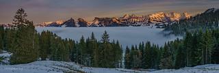 Panorama sur les préalpes fribougoises (Switzerland)