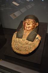 Chicago, IL - Grant Park - Field Museum - Ancient Mediterranean Cultures in Contact - Egyptian Mummy Headpiece (jrozwado) Tags: northamerica usa illinois chicago museum fieldmuseum naturalhistory grantpark egyptian mummy headpiece