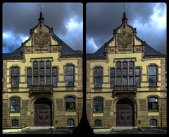 Quedlinburg architecture 3-D / Stereoscopy / CrossView / HDR / Raw (Stereotron) Tags: sachsenanhalt saxonyanhalt ostfalen harz mountains gebirge ostfalia hardt hart hercynia harzgau quedlinburg architecture antiquated ancient medieval middleages strasederromanik deutschefachwerkstrase europe germany crosseye crosseyed crossview xview cross eye pair freeview sidebyside sbs kreuzblick 3d 3dphoto 3dstereo 3rddimension spatial stereo stereo3d stereophoto stereophotography stereoscopic stereoscopy stereotron threedimensional stereoview stereophotomaker stereophotograph 3dpicture 3dglasses 3dimage hyperstereo twin canon eos 550d yongnuo radio transmitter remote control synchron kitlens 1855mm tonemapping hdr hdri raw