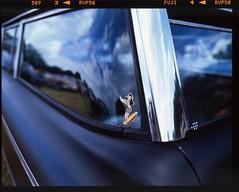 (danny.rowton) Tags: decal sticker 120 velvia pentax6x7 mediumformat slidefilm e6 wideangle analogue analog car hawaiian hula surfer chrome
