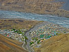 From the top of the ridge.... (Lopamudra !) Tags: lopamudra lopamudrabarman lopa india landscape kaza hikkim spiti spitivalley birdseyeview top colour color colours colourful cold himalaya highaltitude himalayas highland himachal himachalpradesh hp ridge river town habitat human settlement stream nature beauty beautiful picturesque