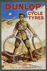 Dunlop Cycle Tyres - 1914 (OldAdMan) Tags: dunlop cycle tyres 1914 khaki mud worldwar1 uniform smile tommy