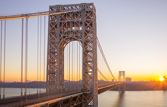 George Washington Bridge At Sunrise (Hameed S) Tags: sunrise urban usa nyc newyorkcity newyork ny dawn river travel historic bigapple architecture longexposure morning