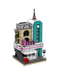 LEGO Creator Expert 10260 Downtown Diner mini version (minimal_brick) Tags: lego creator expert 10260 downtown diner mini modular building