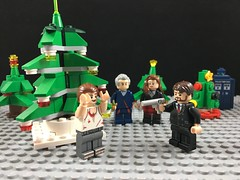 2017-334 - Office Party (Steve Schar) Tags: 2017 wisconsin sunprairie iphone iphone6s project365 lego minifigure doctorwho twelfthdoctor clara claraoswald tardis christmastree officeparty hansgruber johnmcclane