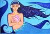Seashell music (thomasgorman1) Tags: painting wallart public art wall colors mermaid seashell baja mexico headphones blue street streetshots streetphotos nikon