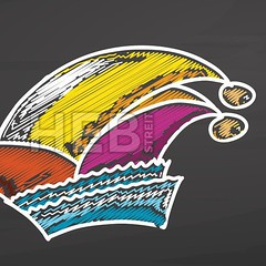German carnival hat sketch on chalkboard (Hebstreits) Tags: art background cap carnival celebrate celebration clothing colorful creative culture decoration design doodle drawing element entertainment fashion fool fun graphic handdrawn happy hat icon idea illustration isolated jester lifestyle new party play season sign silhouette sketch style symbol vector vintage
