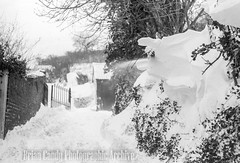 Wotton-under-Edge snow, 1960s (Maintained by Matthew Bigwood) Tags: briancandy wottonunderedge monochrome 35mm film snow 1963 gloucestershire briancandyphotographicarchive