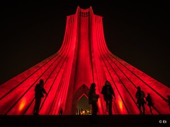 LR-100587A (Et-Lin) Tags: iran tehran azadi tower red silhouette travel architecture urban night