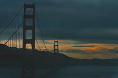 Golden Gate Bridge (shishirmishra1) Tags: sanfrancisco california city architecture sunset golden gate bridges beautiful sky clouds