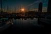 Winter sun..... (Dafydd Penguin) Tags: winter sun sunset evening light water sea yachts boat sailboat marina harbour harbor port dock puerto olympico barcelona catalunya catalan catalonia spain nikon df nikkor 20mm af f28