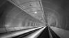 Escalator Wilhelminaplein (Rob Schop) Tags: rotterdam wideangle f56 metro wilhelminaplein zwartwit sonya6000 samyang12mmf20 erasmusbrug escalator roltrap a6000 subway handhold bw