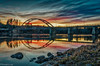 Marahällabron XIV (johan.bergenstrahle) Tags: 2017 finepics umeã¤lv evening hdr kvã¤ll landscape landskap marahã¤llabron natur november reflection river solnedgã¥ng spegling sunset sverige sweden umeriver vã¤nnã¤s ã¤lv
