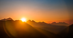 The last rays (Igor Komissarov) Tags: mountain mountains nikon nature night nuture russia rosakhutor ridges colors color contrast caucasian sochi sky sunset ray krasnayapolyana sun silhouette