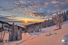 Teton Pass Sunrise (Chris Ross Photography) Tags: wilson wyoming unitedstates d850 captureone idaho sunrise snow tree warm pine cloud jackson hole jacksonhole us