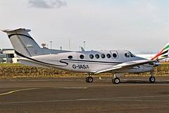 BEECH SUPER KING AIR B200 G-IASA NEWCASTLE (toowoomba surfer) Tags: aviation aircraft aeroplane ncl egnt