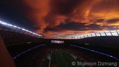November 19, 2017 - A stunning sunset over Mile High Stadium. (Shannon Dizmang)